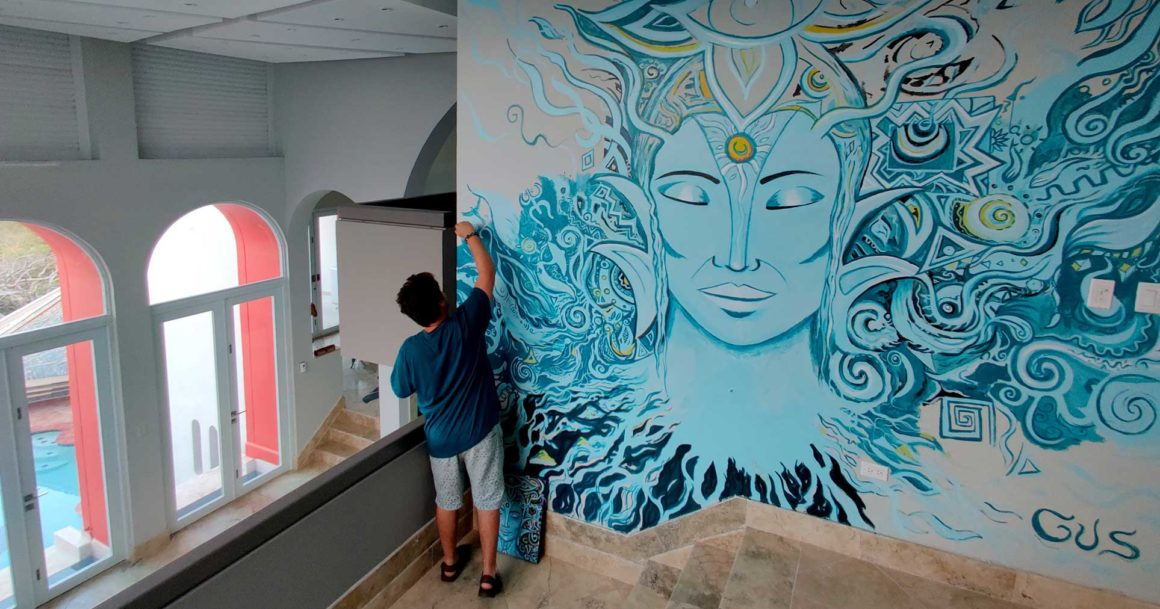 Guerrero de la Luz ༄ – Light Warrior Art Mural in Creation Progress